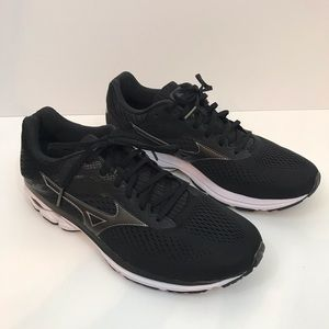 Mizuno Wave Rider Men's Sz 11 Black Tennis Shoe